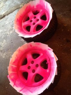 pink platidip  | Another PLASTI-DIP Thread! Hope You like PINK - JDMCITY.COM Mazda 3 Hatchback, Pink Wheels, Pink Rims, Pink Jeep, Pink Truck, Girly Car, Car Mods, Car Accessories, Chevy Cruze Accessories