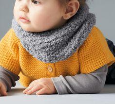 tricoter snood bebe