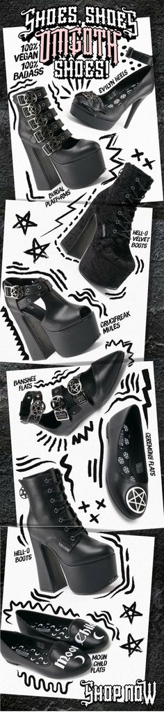 OMG! Our new collection of womens footwear has just dropped! Shop our range of Gothic Shoes, Boots, Heels & Platforms at KILLSTAR.com We Ship Worldwide!