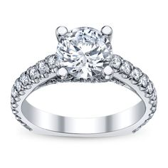 Sometimes a simple statement engagement ring is all you need. Michael M. 18K white gold diamond engagement ring. Sku: 0398180