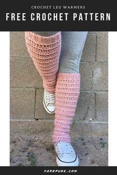 Crochet Beanie Pattern, Easy Crochet Patterns, Free Crochet, Crochet Leg Warmers, Easy Knitting Projects, Crochet Slippers, Crochet Clothes, Steampunk, Legs