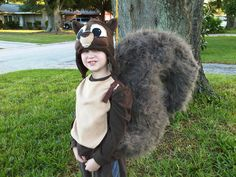 DIY handmade Squirrel costume by Tina Mix. Halloween costume.tinamixonline.com