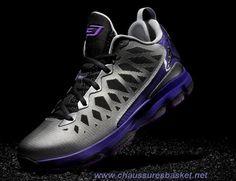 the best attitude 580b6 2d507 Jordan CP3.VI Nitro MetTousic argent Noir Court Pourpre Lazer Pourpre CP3  Chaussures 2013 Sortie