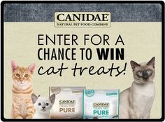 Do you have a cat? If you do, this is the instant win giveaway for you. CANIDAE is giving you the chance to win cat treats on their Facebook page.  Canidae cat treats are grain-free with …