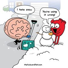 Brain and Heart by the Awkward Yeti. Love this comic! Funny Cartoons, Funny Comics, Funny Memes, Hilarious, Cartoon Memes, Heart And Brain Comic, The Awkward Yeti, Akward Yeti, Humor Grafico