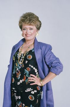 """Rue McClanahan struck comedy gold as Blanche Devereaux on """"The Golden Girls"""" from 1985 to We remember McClanahan's life today as well as the lives of other notable people who were born this day in history. My Girl, Cool Girl, Rue Mcclanahan, Stylish Older Women, Classic Actresses, Golden Girls, Famous Faces, Girl Humor, The Golden Girls"""