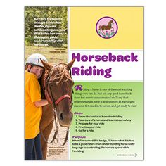 NEW! GIRLS' CHOICE JUNIOR HORSEBACK RIDING BADGE REQUIREMENTS - This free digital download provides the requirements for earning the new Junior Horseback Riding Badge.* FREE DOWNLOAD TO VIEW, SAVE OR PRINT