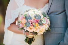 Pretty bouquet: http://www.stylemepretty.com/california-weddings/carlsbad/2015/05/16/rustic-carlsbad-ranch-wedding/ | Photography: Zelo - http://zelophotoblog.com/