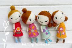 Hitsujigoto Dattari super cute little needle felted dolls Bjd, Wool Dolls, Fabric Dolls, Tiny Dolls, Cute Dolls, Cute Crafts, Felt Crafts, Felted Wool Crafts, Needle Felted