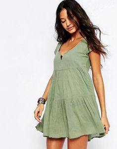 ASOS Tiered Smock Beach Dress