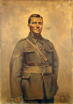 Painting of Donald Brown VC | NZHistory, New Zealand history online