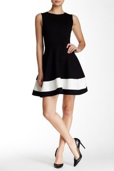 Image of Love...Ady Sleeveless Colorblock Hem Fit & Flare Dress