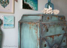 One of a Kind - Hand Painted Furniture - Vintage Modern Home