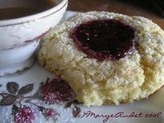remember those Starbucks raspberry thumbprint scones? Well you can't get them at starbucks but you can make them at home! SO easy. Buttery and sweet!
