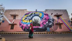 St+art India is a non profit organization which has pioneered  Street Art projects on the Indian landscape. St+art runs annual Street and Public art festivals in the Indian Urban cities.