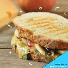 Sandwiches con queso, manzana y cebolla caramelizada: Super Fáciles de preparar #Receta