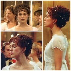 Elizabeth Bennet's hair at the Netherfield Ball in Joe Wright's Pride and Prejudice (2005), starring Keira Knightley and Matthew Macfadyen