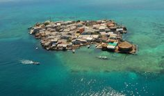 The Islet. The most densely populated island in the world located in the Colombian Caribbean.