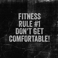 Comfort zones are for the weak