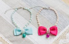 Pearl BowTie Pet Necklace Neck Size: - Online Store Powered by Storenvy Pet Accessories, Online Boutiques, Tassel Necklace, Collars, Jewelry Watches, Pearls, Beds, Safety, Security Guard