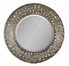 Alita Champagne with Black Round Mirror
