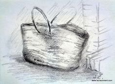 LAURA CLIMENT, PAINTER shopping basket graphite Graphite, Basket, Sketches, Abstract, Artwork, Shopping, Black, Alone Photography, Blanco Y Negro