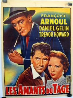 Lovers of Lisbon Francoise Arnoul, Trevor Howard, Marcel Dalio, Nostalgia, Cinema, Henri, France, Lisbon, Movie Posters