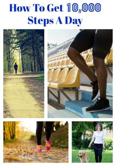 """""""How to get 10,000 steps A Day"""" Health Goals, Health Tips, Health And Wellness, Health Fitness, 10000 Steps A Day, Walking Everyday, Get In Shape, Healthy Living, Eating Healthy"""