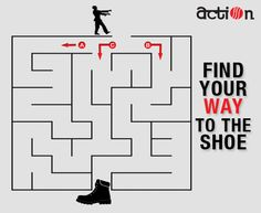 Tell which is the correct way to reach the shoe? #Action