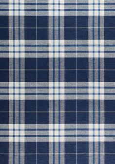 PERCIVAL PLAID, Navy, W80083, Collection Woven 9: Stripes/Plaids from Thibaut