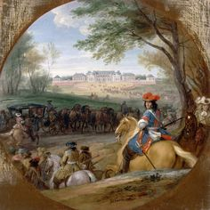 "Адам Франс ван дер Мёлен. "" Вид  на    дворец  Версаль ""        ( Франция.)"