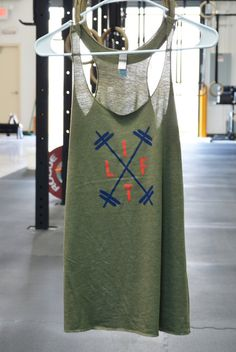 Military Green LIFT Tank by LIFTapparel on Etsy|| crossfit tank