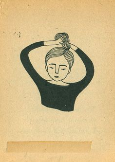 Illustrated chignon