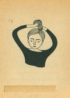 Illustrated chignon
