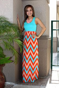 maxidress #rue21 #chevron #cute #blue #lightgreen #black #white ...