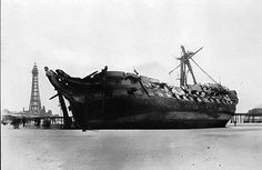 1897 The Foudroyant Wreck, Blackpool