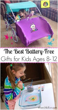 10 Best Battery Free Gifts for Kids Ages 8-12 - saving this for the next time I need a kid's birthday gift idea!