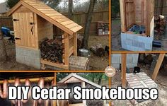 DIY Cedar Smokehouse, how to build a smokehouse, easy smokehouse project, preserve meat, alternative, homesteading, shtf, prepping, preparedness,