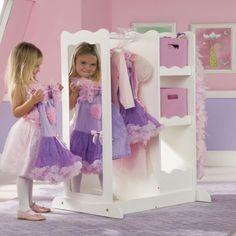 Dress Up Center with Storage #princess #dressup More  sc 1 st  Pinterest & Dress-Up Storage Center - White | Storage Toy room organization and ...