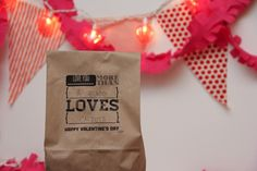 Free v-day printables for paper bags.