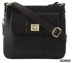 cross body bags: Anne Klein Trinity Cross Body Handbag,Black,One Size Black Handbags, Purses And Handbags, Satchel, Crossbody Bag, Anne Klein, Cross Body Handbags, Winter Boots, Leather Bag, Messenger Bag