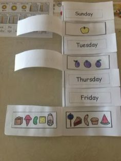 Love flip books = make it in cardstock and laminate for reuse! Unique Curriculum - Elementary: Very Hungry Caterpillar and Days of the Week