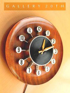 keen! mid century atomic sputnik clock! vtg eames space age googie satellite from $495.0