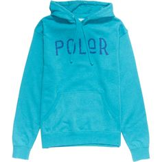 Poler Furry Font Pullover Hoodie : Turquoise Heather
