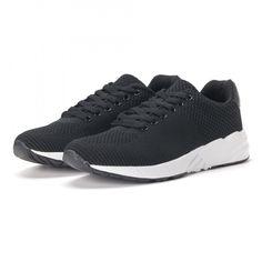 6da067adab4 Ανδρικά μαύρα αθλητικά παπούτσια ελαφρύ μοντέλο it020618-21 | Fashionmix.gr  21st