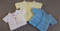 This new premature baby design is for boys or girls . in three premature sizes :) Little Jay ~ Premature Baby Cardigan Jackets Small Premature Baby Cardi ~ Width Length Med Baby Cardigan Knitting Pattern Free, Baby Hats Knitting, Baby Knitting Patterns, Crochet Patterns, Free Knitting, Cardigan Pattern, Preemie Clothes, Knitting Dolls Clothes, Knit Baby Sweaters