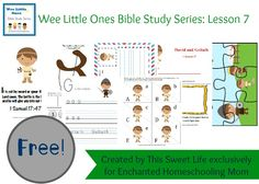 Welcome to the David and Goliath Wee Little Ones Bible Study Pack, the seventh lesson in my Wee Little Ones Bible Study Series.