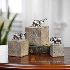 Uttermost Tiberia Elephant Sculpture (Set of 3)