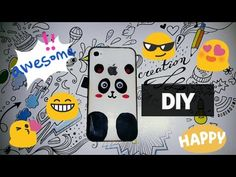 DIY | Panda Telefon Kabı Boyama (Oje ile) - YouTube