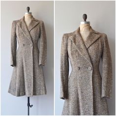 NEW! 1930s Literary League tweed coat  s/m by deargolden